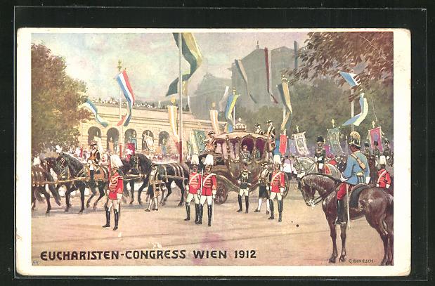 Künstler-AK C. Benesch: Wien, Eucharisten-Congress 1912 0