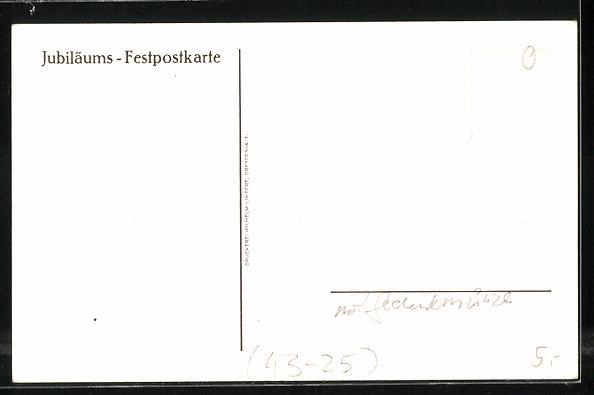 AK Dresden, 1. Deutsches Sängerbundes-Fest 1865 und 1. Sächs. Sängerbundes-Fest 1925 1