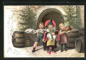 AK Gruss aus München, Münchner Kindl