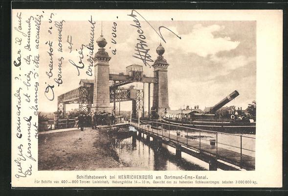 AK Henrichenburg, Schiffshebewerk am Dortmund-Ems-Kanal 0