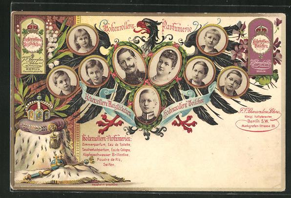 Lithographie Hohenzollern-Perfumerien, Reklame 0
