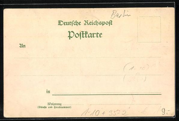 Lithographie Hohenzollern-Perfumerien, Reklame 1