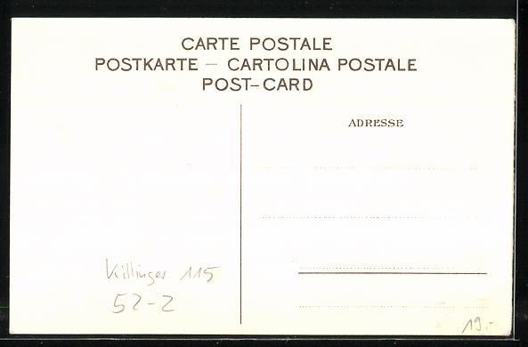 Lithographie Killinger Nr. 115, Die Bahn am Ziel! Drei Opfer des Fortschritts, Berg mit Gesicht / Berggesichter 1