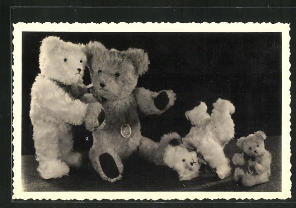 Foto-AK Vier Steiff-Teddibären 0