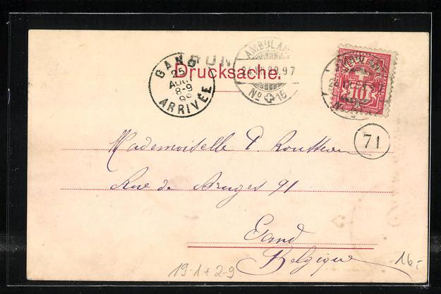 AK Private Stadtpost Basel, Tausend Franken Geldschein der Bank Reiden 1
