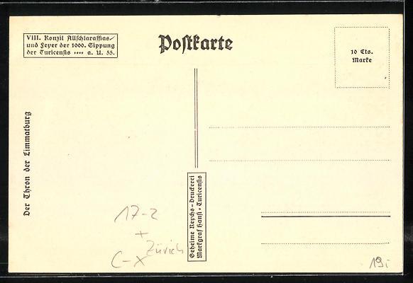 AK Zürich, VIII. Konzil Allschlaraffias und Feyer der 1000. Sippung der Turicensis a. U. 55, Sitzungssaal 1