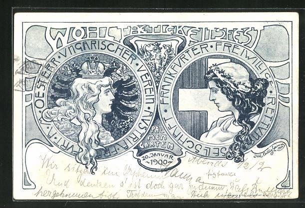 AK Frankfurt, Wohltätigkeitsfest der Frankfurter Freiwillige Rettungsgesellschaft und des Öst.-Ung. Vereins Austria 1900 0