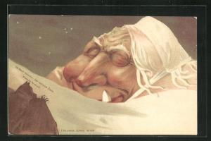 Lithographie Killinger Nr. 108: La Dent blanche / Der weisse Zahn, Berg mit Gesicht / Berggesichter