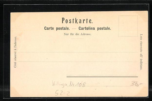 Lithographie Killinger Nr. 108: La Dent blanche / Der weisse Zahn, Berg mit Gesicht / Berggesichter 1