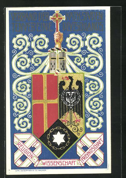 AK Wappen des Verbands der katholischen Studentenvereine Deutschlands, Studentenwappen 0