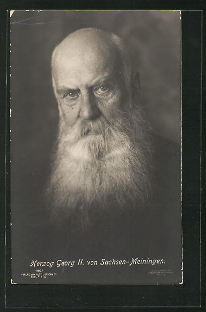 AK Herzog Georg II. von Sachsen-Meiningen, Portrait mit weissem Bart 0