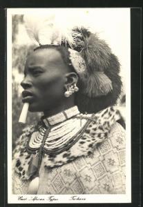 AK Mann vom Stamm der Turkana, afrikanische Volkstypen