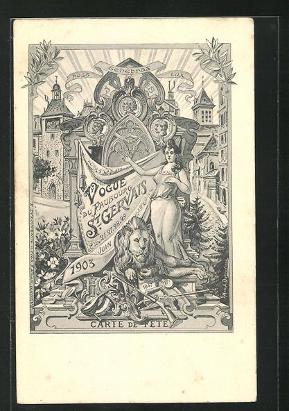 AK Geneve, Vogue du Faubourg St. Gervais 1903 0