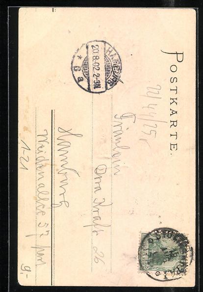 Präge-AK König Wilhelm II. und Königin Charlotte von Württemberg 1