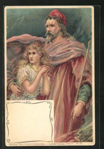 AK Der Sturm von Shakespeare, Prospero u. Miranda
