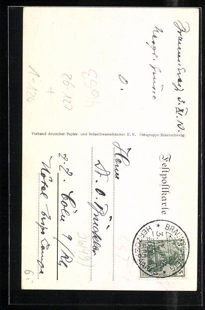 Künstler-AK Richard Wagner: Braunschweig, Ortspartie, Ernst August Herzog von Braunschweig und Gemahlin 1