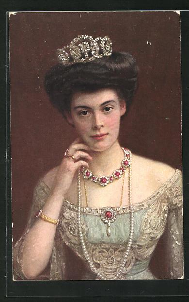 AK Portrait von Kronprinzessin Cecilie 0