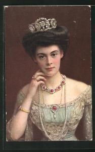 AK Portrait von Kronprinzessin Cecilie