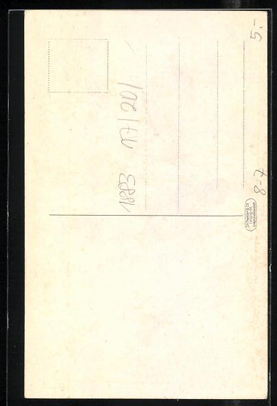 AK Kaufmännischer Jugendbund im V. D. H., Junge in Tracht mit Hut und Stock 1