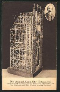 AK Die Original-Kunst-Uhr, Seitenansicht, Erbaut 1892-1907, Modellbau