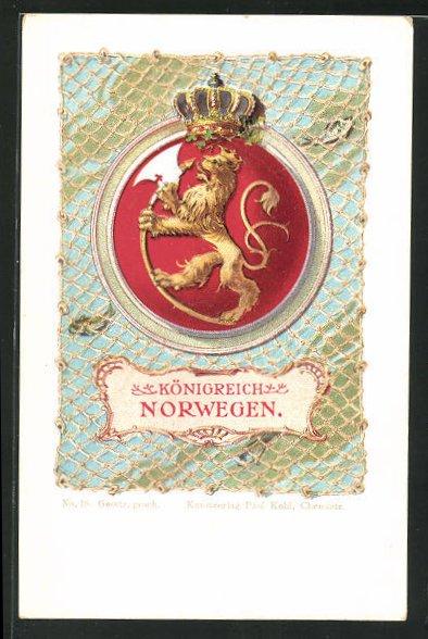 AK Königreich Norwegen, Löwe mit einer Axt 0