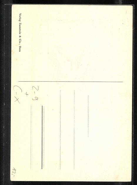 Präge-AK Basel, Stadt-Post, Brieftaube mit Brief 1
