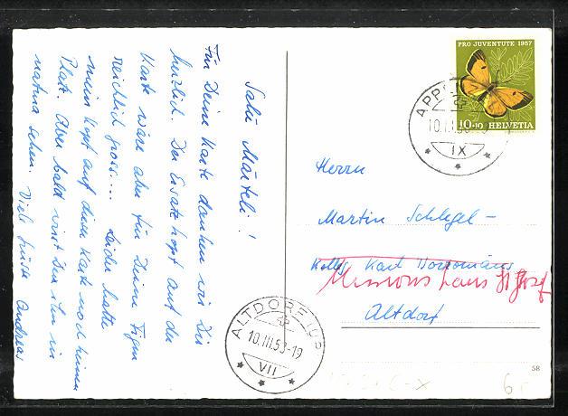 AK Appenzell, Matura 1958, Absolvia, Schüler mit Instrumenten 1