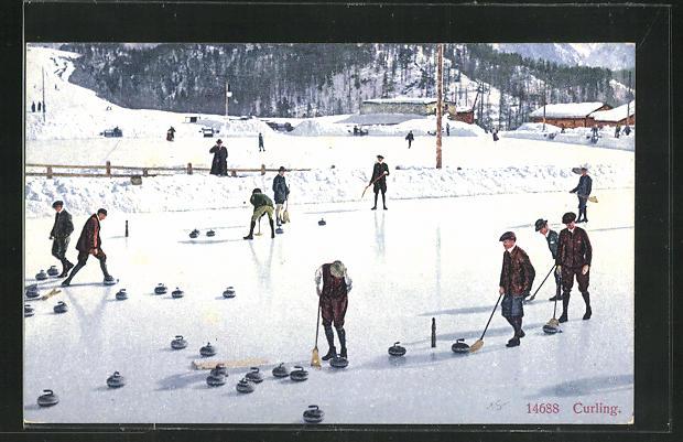 AK Wintersportler beim Curling / Eisstockschiessen 0