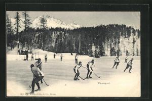 AK Wintersport mit Eishockey