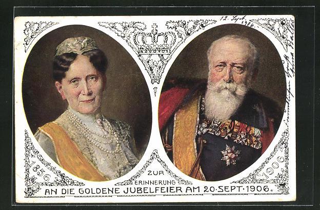 AK Grossherzog Friedrich und Grossherzogin Luise von Baden 0