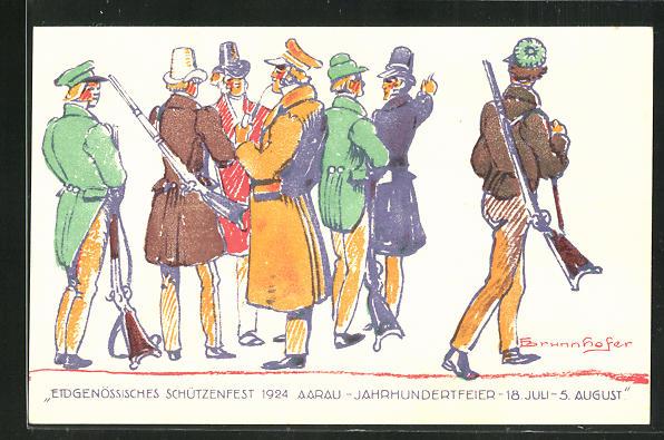 AK Aarau, Eidgenössisches Schützenfest 1924, Jahrhundertfeier 0