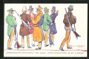 AK Aarau, Eidgenössisches Schützenfest 1924, Jahrhundertfeier