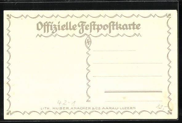 Künstler-AK Aarau, Eidegnössisches Schützenfest 1924, Tanz zum Fest 1