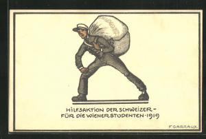 Künstler-AK Hilfsaktion für die Wiener Studenten 1919