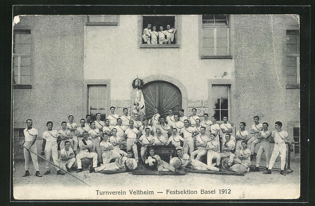 AK Basel, Turnverein Veltheim, Festsektion Basel 1912 0