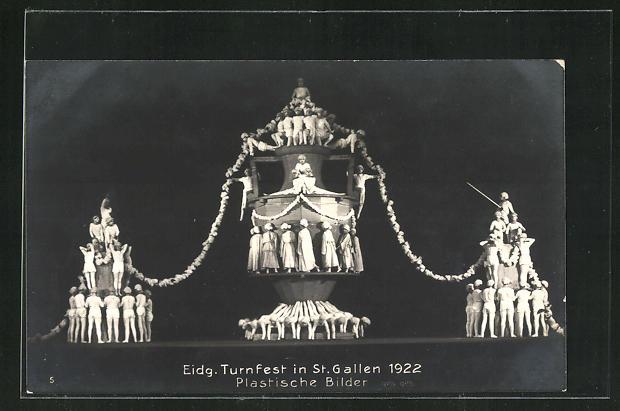 AK St. Gallen, Eidg. Turnfest 1922, Plastische Bilder 0
