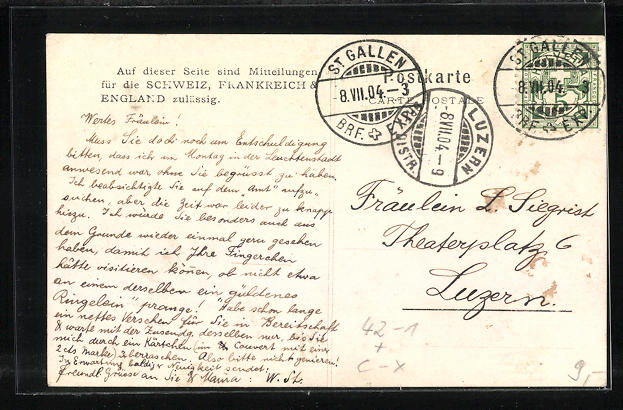 AK St. Gallen, Eidg. Schützenfest 1904, Festgelände 1