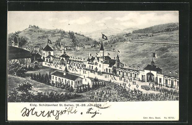 AK St. Gallen, Eidg. Schützenfest 1904, Festgelände 0