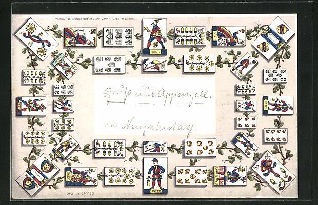 AK Kartenspiel im Eichenband 0