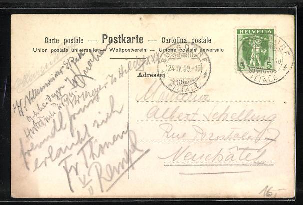 AK Studentenwappen Bertholdia! Litteris et Amicitae 1882 1