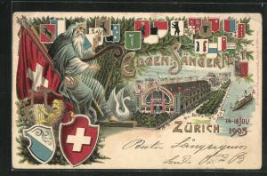 Präge-Lithographie Zürich, Eidgen. Sängerfest 1905, Wappen