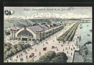 AK Zürich, Eidgen. Sängerfest 1905, Festgelände