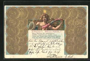 Präge-AK Goldmünzen Deutsches Reich, Germania