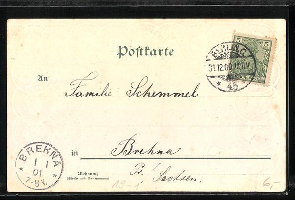 Präge-AK Goldmünzen Deutsches Reich, Germania 1