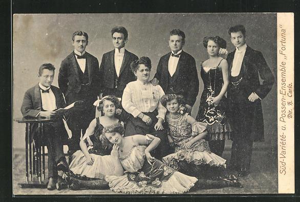 AK Süd-Variete- und Possen-Ensemble Fortuna 0
