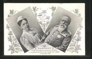 AK Jubiläumskarte zum 80. Geburtstag des Grossherzogs Friedrich von Baden 1906