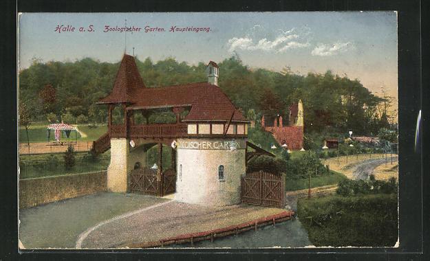 AK Halle a. S., Zoologischer Garten, Haupteingang 0