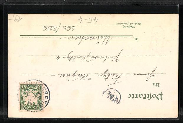 Lithographie Nürnberg, X. Deutsches Turnfest 1903, Turnvater Jahn 1