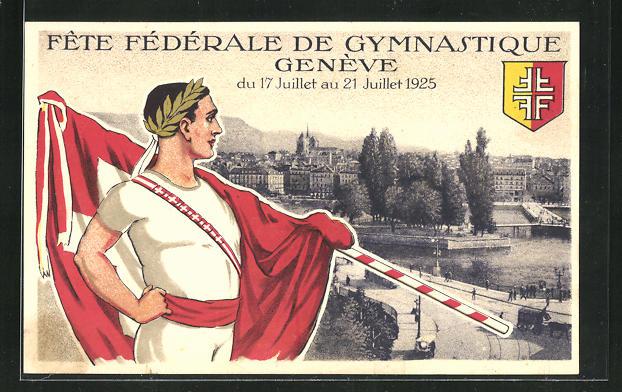 AK Geneve, Fete Federale de Gymnastique 1925, Fahnenträger 0