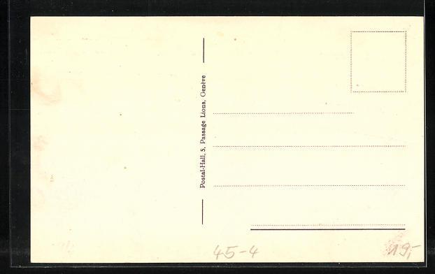 AK Geneve, Fete Federale de Gymnastique 1925, Fahnenträger 1